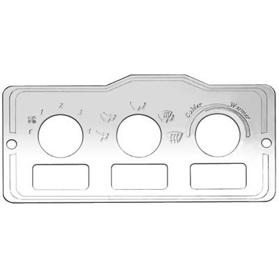 PETERBILT SWITCH PLATE, A / C HEATER CONTROL W / HOLES FOR