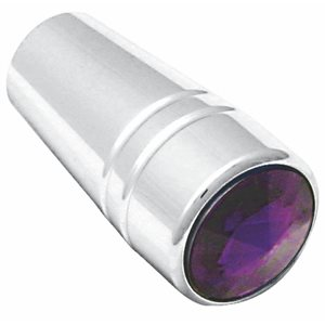 TOGGLE SWITCH EXTENDERS, PB- GUARDED, CHROME, W / PURPLE JEWEL, 3 / PK