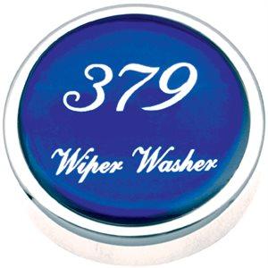 PB KNOB, WIPER / WASHER, CHROME W / 379 LOGO IN BLUE