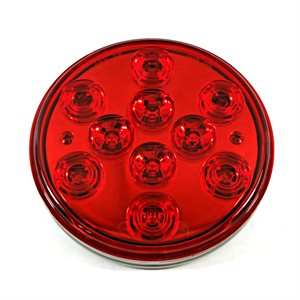 "4"" ROUND STOP / TURN / TAIL,10 RED LED, CHROME REFLECTOR"