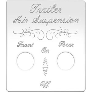 PETERBILT SWITCH PLATE, TRAILER AIR SUSPENSION-2 SWITCH