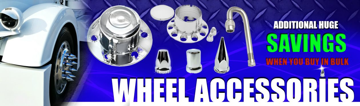 ABS chrome, stainless steel, axle covers, hub caps, lug nut covers